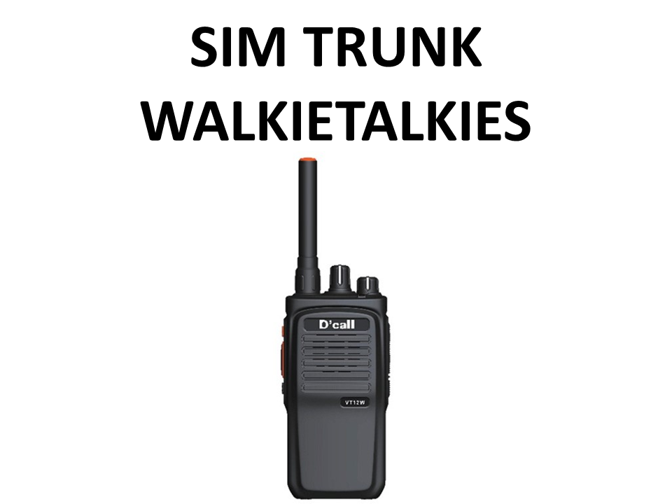 Walkies4Events - Verhuur - Offerte - SIM Trunk-walkietalkies - D'Call VT12W