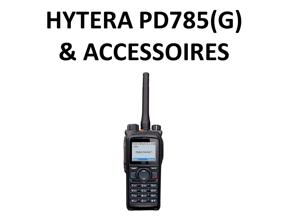 Walkies4Events - Verkoop - Offerte - Vergunde walkietalkies - Hytera PD785, PD785G - ACN-01 - ES-02 - SM18N2 - BL2008