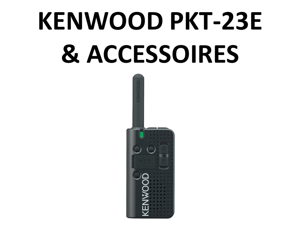 Walkies4Events - Verkoop - Offerte - Vergunningsvrije walkietalkies - Kenwood PKT-23E - KHS-33 - KHS-34 - ACH2042-K4 - KNB-71L - KSC-44ML
