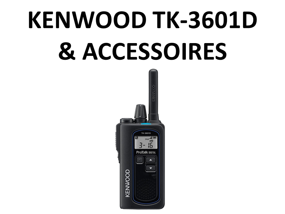 Walkies4Events - Verkoop - Offerte - Vergunningsvrije walkietalkies - Kenwood TK-3601D - EMC-13 - EMC-14 - KHS-44BL - KSC-44ML