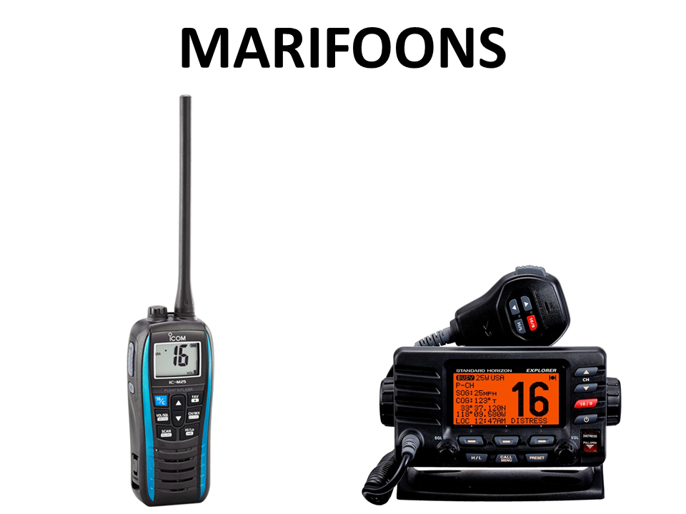 Walkies4Events - Verkoop - Offerte - Marifoons - Icom IC-M25 - Standard Horizon GX1600E