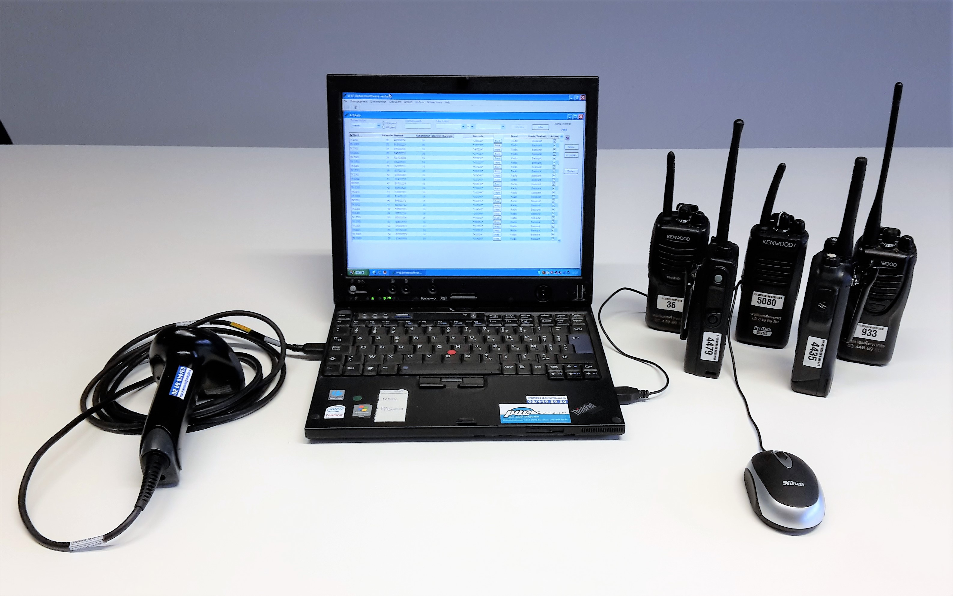 Walkies4Events - Diensten - Scanning walkietalkies met scanlaptop en scanner